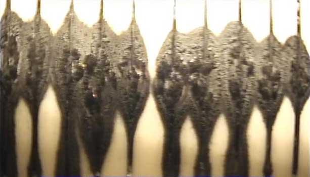 Foto gemaakt tijdens camera inspectie vóór regeneratie.